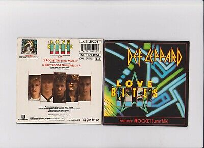 Def Leppard - Love Bites   3 Tr Very Rare Uk Cardsleeve