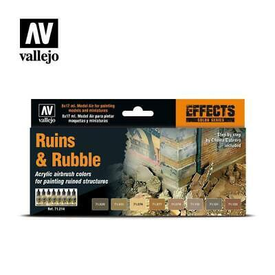 VALLEJO Model Air Effects Ruins And Rubble NEW Paints Miniatures