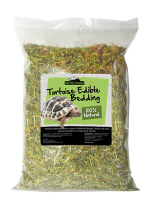 Reptile World Tortoise Edible Bedding 10 Litre - Botanical Leaves, Flowers Grass