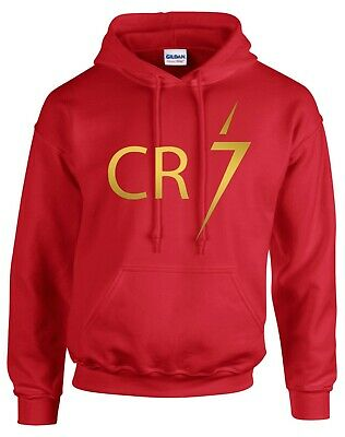 Cristiano Ronaldo Hoodie, Cr7 Juventus Forza Great Football Red Training Hoodie