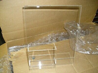 """Acrylic Sign Holder Table Top  Display Ad Frame Stand  8.5"""" x 11""""  w/ Pocket"""