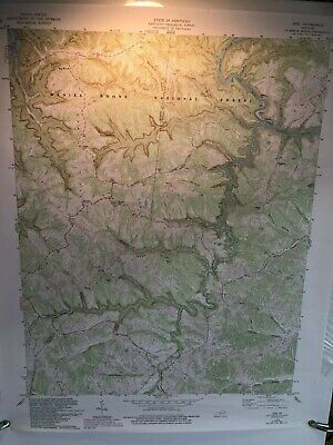 Authentic 1978 Ezel KY  Topographic  7.5 Minute Series Quadrangle Map