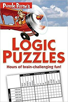 Puzzle Baron's Logic Puzzles Paperback Book NEW
