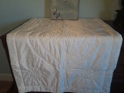 Vintage Baby Blanket Quiltex Quilted  Baby Blanket 36x50 In Box
