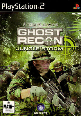 Tom Clancys Ghost Recon Jungle Storm PS2 Game USED