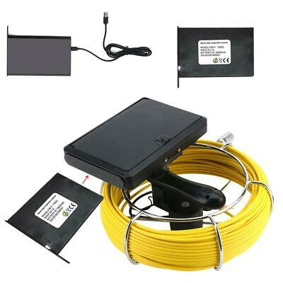 HD 50M DVR Pipe Sewer Inspection Camera Meter Counter WIFI Waterproof LED adjust