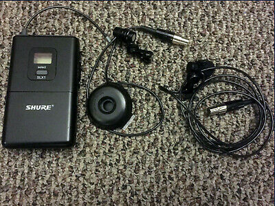 Shure SLX1 Bodypack Wireless Transmitter with WL185 Microphones X2 Used Lot
