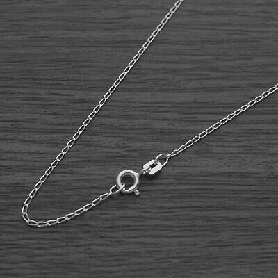 Genuine Solid 925 Sterling Silver Cheval Chain Necklace