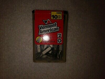 1 box of Vermont American ice bit,10 pieces # 2 Phillips screwdriver inserts.