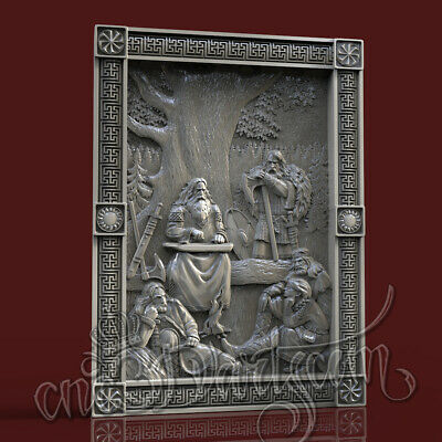 3D Model STL for CNC Router Artcam Aspire Rus Clan Hero Panel Cut3D Vcarve
