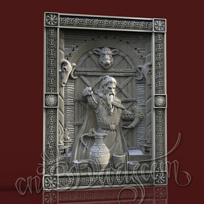 3D Model STL for CNC Router Artcam Aspire Demigod Loki Hero Panel Cut3D Vcarve