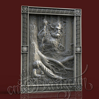 3D Model STL CNC Router Artcam Aspire Spirit Of Forest Silvan Panel Cut3D Vcarve