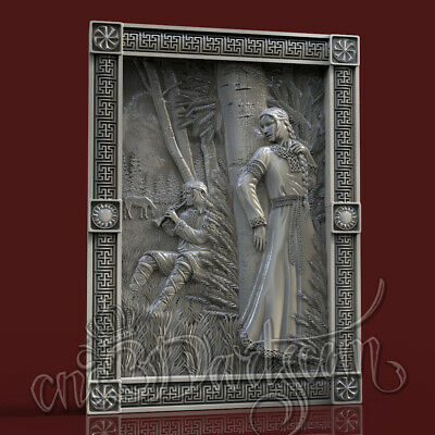 3D Model STL CNC Router Artcam Aspire Demigod Love Wedlock Panel Cut3D Vcarve