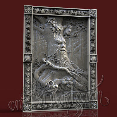 3D Model STL for CNC Router Artcam Aspire Wood Goblin Forest Panel Cut3D Vcarve