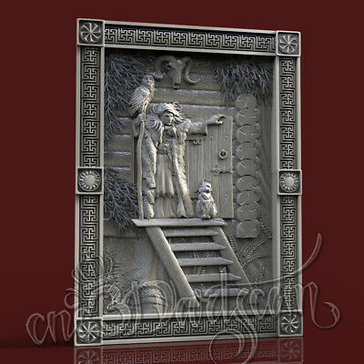 3D Model STL 4 CNC Router Artcam Aspire Slavic Mythology Yaga Panel Cut3D Vcarve