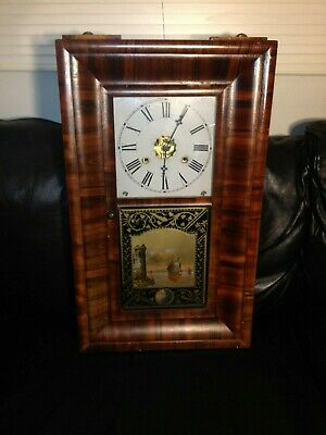Antique Ogee Weight Driven 'American Clocks' / Simms Wall Clock U.S.A Time
