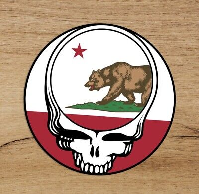 Grateful Dead Steal Your Face California Country Premium Quality Sticker 3 in
