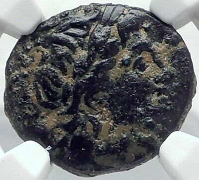 ANTIOCHOS II THEOS 261BC Ancient SELEUKID Greek Coin APOLLO TRIPOD NGC i82075