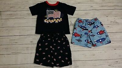 Boy/'s Size 24 Mos Jumping Beans Blue 4th Of July Short Sleeve Tee Nwt #8881