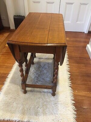 Jacobean Style Oak Dropside Table With Barley Twist Gate Legs