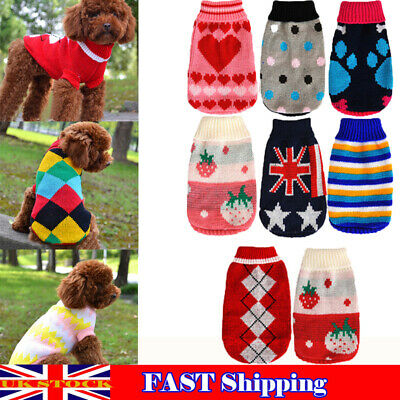 Pet Small Dog Knitted Sweater Jumper Puppy Winter Warm Soft Jacket Coat Clothes