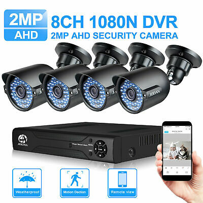 JOOAN 5IN1 8CH DVR 1080P CCTV Home Surveillance 3000TVL Security Camera System