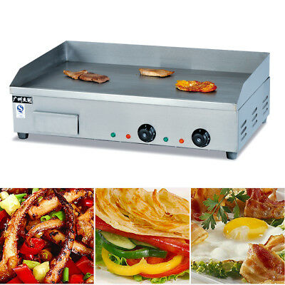 Electric Countertop Griddle Flat Top Commercial Restaurant Grill 4400W 50-300°C