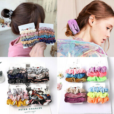 Fashion Women Scrunchies Candy Color Elastic Hair Ties Rope Hairband Ponytail