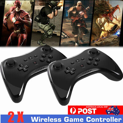 2 Pack Wireless Bluetooth Remote Handle Pro Game Controller Gamepad For WIIU 01