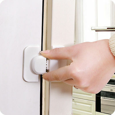 Adhesive Kids Child Baby Safety Lock Cabinet Door Drawer Cupboard Fridge/-&
