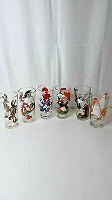 Pepsi Warner Brothers Collector's Series Looney Tunes Six Character Glasses
