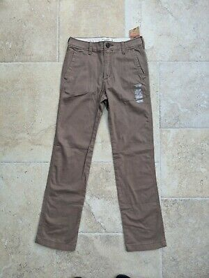 Abercrombie kids aged 13 years slim fit straight Chinos BNWT