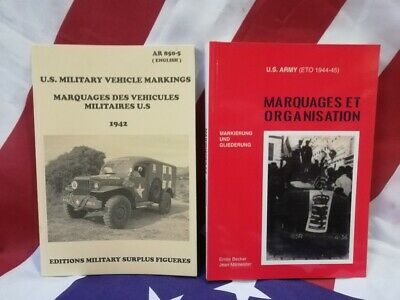 BEST lot 2 livres BECKER AR 850-5 MARQUAGES JEEP DODGE WC GMC CCKW RESTAURATION