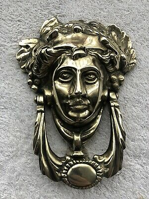 Vintage Heavy Large Solid Brass Door Knocker 980g.