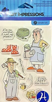 Clearance Sale Art Impressions Clear Stamps ~Grannies Garden Sc0650