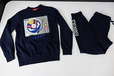 Fendi Tracksuit 2 Outfit Hoodie & Bottoms Age 12 Years Vgc Monster  Boys