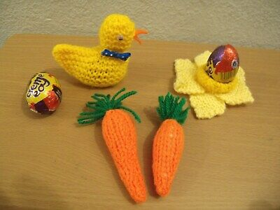 EASTER CHICK KNITTING PATTERN  x 2 TO COVER CREME EGG FETE  FUND RAISER