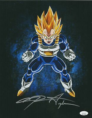 Chris Sabat Autograph 11x14 Photo Dragon Ball Z Vegeta Signed JSA COA