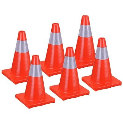 """4/6Pcs 18"""" Road Traffic Cone Reflective Overlap Parking Emergency Safety Cone"""