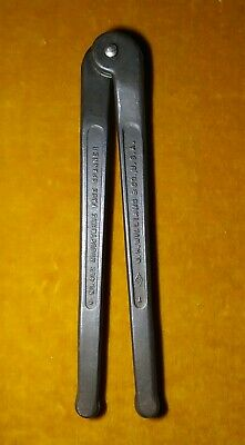 "Vintage JH WILLIAMS No. 483 Adjustable Face Pin Spanner Wrench 3"" USA Near MINT"