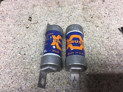2 x Brush TIA 32  Off Set Bolted Tag BS88 Fuse  32 Amp