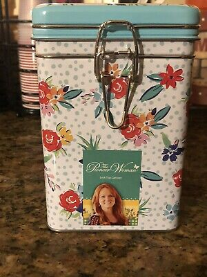 The Pioneer Woman Locktop Square Tin/ Canister (US  Shipping Only )