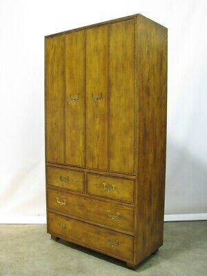 """Henredon """"Artefacts"""" Campaign 76"""" Gentleman's Style Armoire; Immaculate & Mint"""
