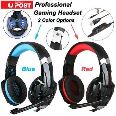 EACH G2000 Pro Game Gaming Headset USB 3.5mm LED Stereo PC Headphone Wn