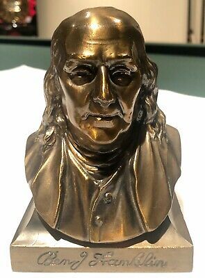 BANTHRICO BEN FRANKLIN BUST COIN BANK from THE FRANKLIN HOTEL PHILADELPHIA