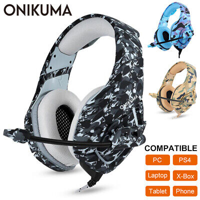ONIKUMA K1 Gaming Headset Mic Headphones for PC Laptop PS4 Slim Pro Xbox One S