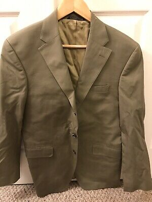 J Press Tan Cotton Sport Coat 39R
