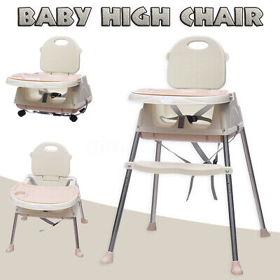 Baby High Chair Convertible Play Table Seat Booster Toddler Feeding Tray  US