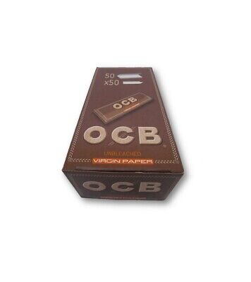 OCB Virgin Unbleached Single Regular Mini Rolling Papers Pack of 50 Booklets