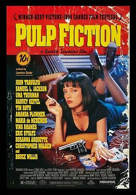 Pulp Fiction Movie Poster Print Choose your size Unframed.